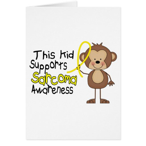This Kid Supports Sarcoma Awareness Greeting Card