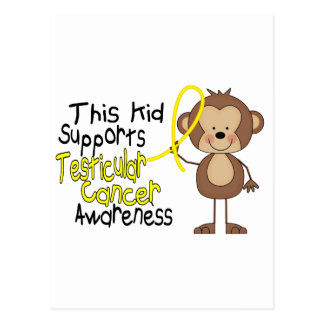 This Kid Supports Testicular Cancer Awareness Postcard
