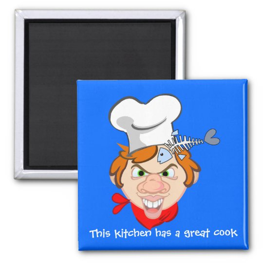 This kitchen has a great cook square magnet