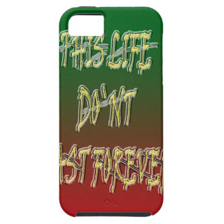 This Life Don`t Last Forever Green and Red iPhone 5 Case