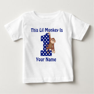 This Lil Monkey Personalised First Birthday Shirt