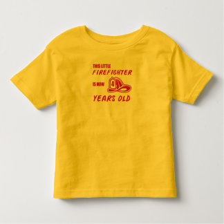 This little Firefighter is now 4 years old T-Shirt