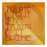 This Little Light of Mine Inspirational Print