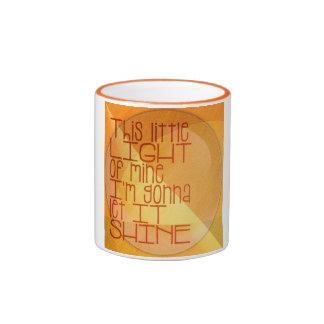 This Little Light of Mine Inspirational Ringer Mug