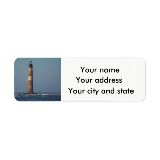 This little light on Morris Island Return Address Label