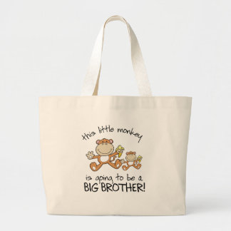 this little monkey big brother jumbo tote bag