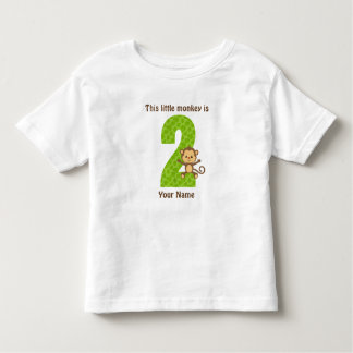 This little monkey is Two Toddler Jersey T-Shirt