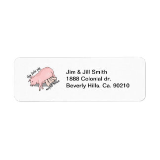This Little Pig Stayed Home Return Address Label