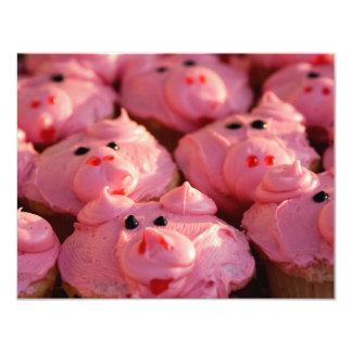 This Little Piggy 11 Cm X 14 Cm Invitation Card