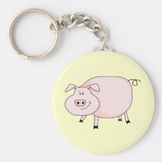 This Little Piggy Basic Round Button Key Ring