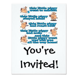 this little piggy nursery rhyme cartoon custom announcements