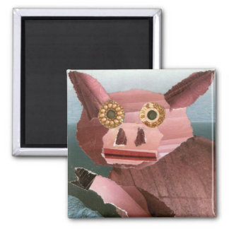 This Little Piggy Square Magnet