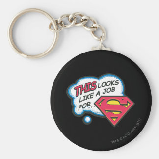 This Looks Like a Job for Superman Key Ring