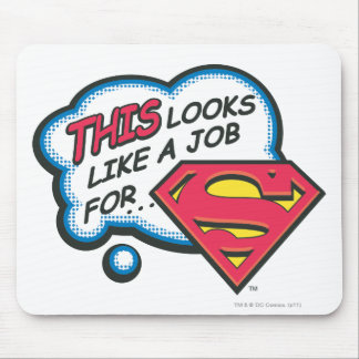 This Looks Like a Job for Superman Mouse Mat