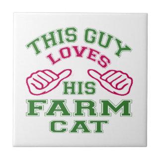 This Loves His Farm Cat Tile