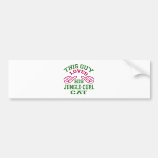 This Loves His Jungle-curl Cat Bumper Sticker