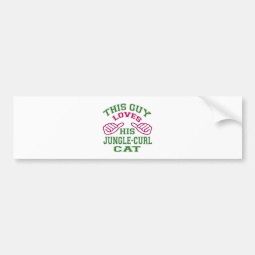 This Loves His Jungle-curl Cat Bumper Sticker