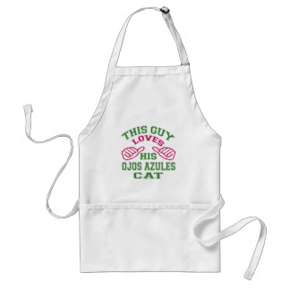 This Loves His Ojos Azules Cat Adult Apron