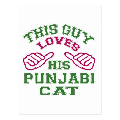 This Loves His Punjabi Cat Post Card
