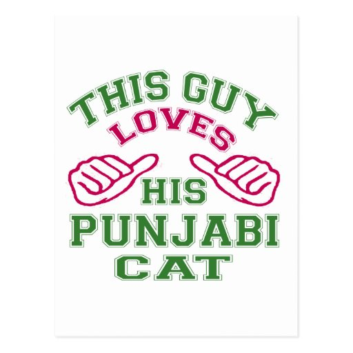 This Loves His Punjabi Cat Postcards