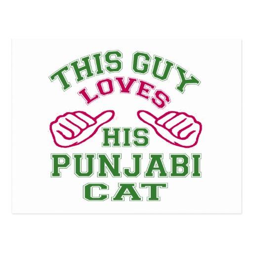 This Loves His Punjabi Cat Postcard