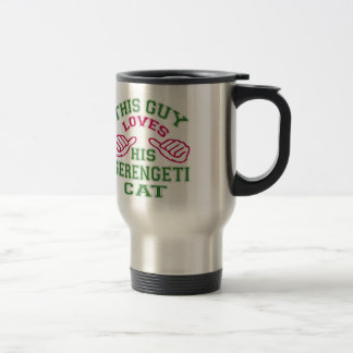 This Loves His Serengeti Cat Coffee Mugs