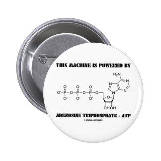 This Machine Is Powered By Adenosine Triphosphate 6 Cm Round Badge
