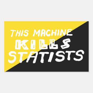 This Machine Kills Statists Rectangle Sticker