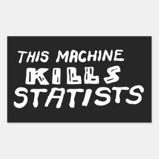 This Machine Kills Statists Rectangular Stickers