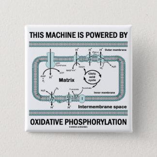 This Machine Powered By Oxidative Phosphorylation 15 Cm Square Badge