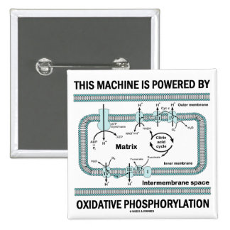 This Machine Powered By Oxidative Phosphorylation 15 Cm Square Badge