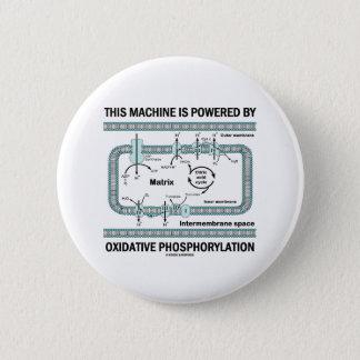This Machine Powered By Oxidative Phosphorylation 6 Cm Round Badge