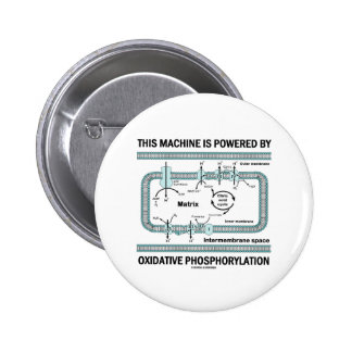 This Machine Powered By Oxidative Phosphorylation 6 Cm Round Badge