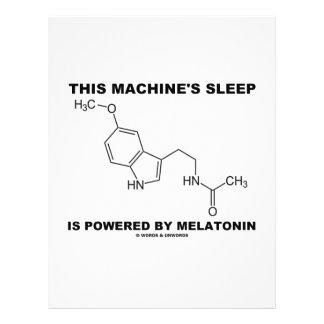 This Machine's Sleep Is Powered By Melatonin 21.5 Cm X 28 Cm Flyer