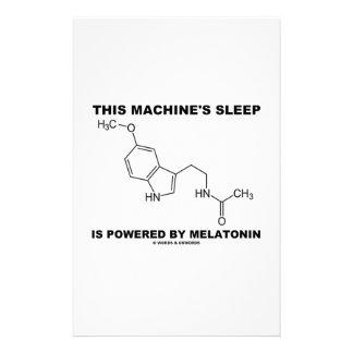 This Machine's Sleep Is Powered By Melatonin Custom Stationery