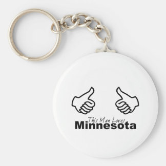 This Man Loves MN Basic Round Button Key Ring