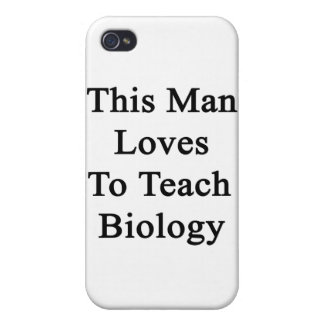 This Man Loves To Teach Biology iPhone 4 Cover