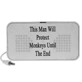 This Man Will Protect Monkeys Until The End Mp3 Speaker