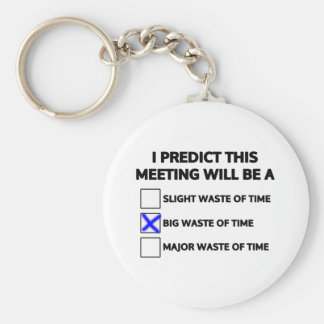 This meeting will be a big waste of time basic round button key ring