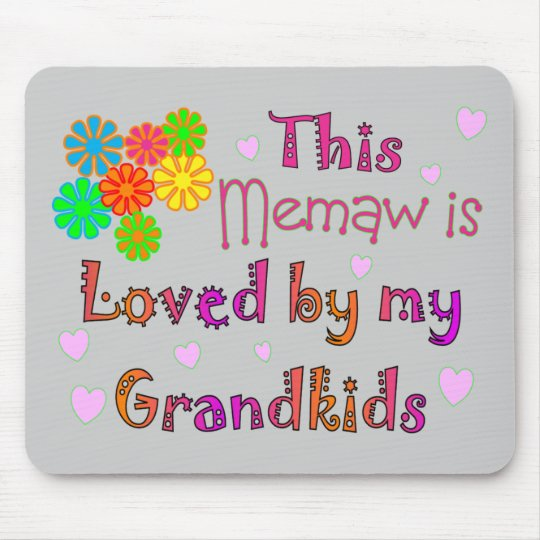 This memaw loved by my grandkids mouse pad