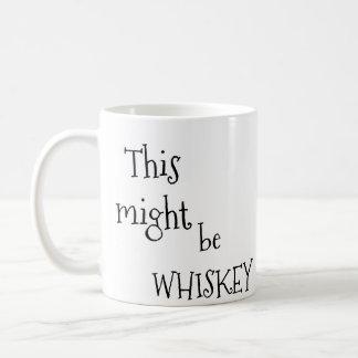 This might be whiskey coffee mug