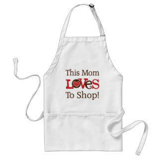 This Mom Loves To Shop Standard Apron