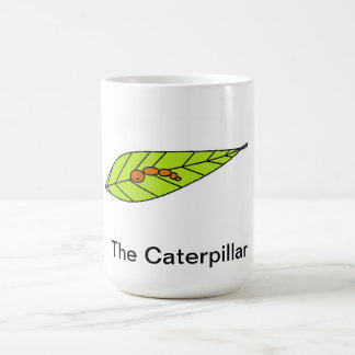 This mug has the design of a cute caterpillar.
