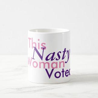 This Nasty Woman Voted. Hillary 2016 Coffee Mug