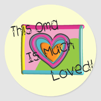 This OMA Much LOVED Classic Round Sticker