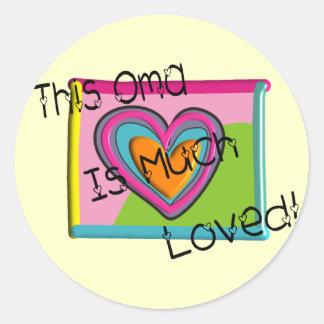 This OMA Much LOVED Round Sticker