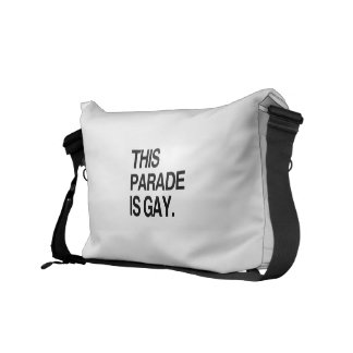 This parade is gay commuter bag
