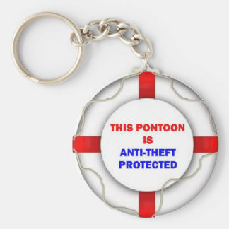 This Pontoon is Anti Theft Protected Key Ring