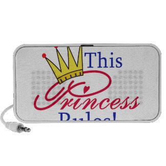 This Princess Rules! Laptop Speakers