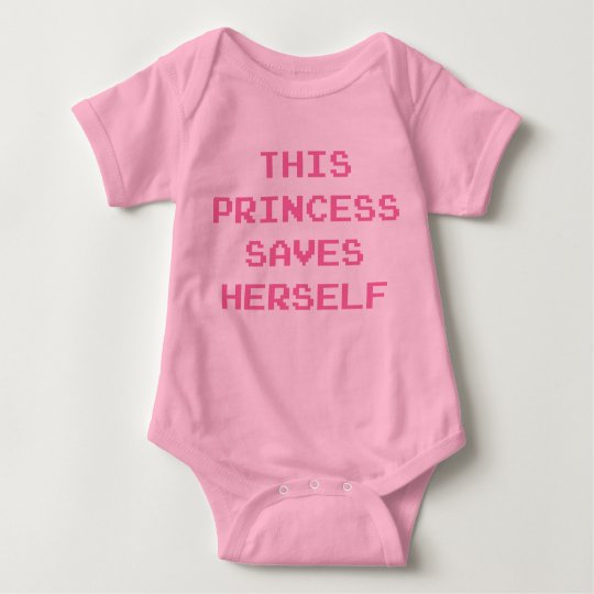 This Princess Saves Herself Baby Bodysuit